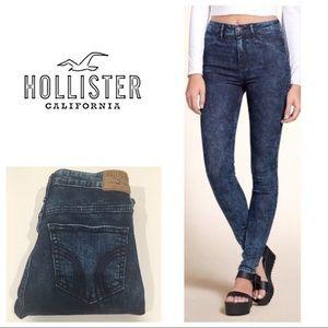 hollister acid wash skinny jeans